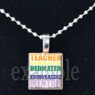 SUBWAY ART School Teacher Scrabble Necklace Pendant Charm or Key-chain Great Gift