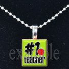 #1 School Teacher Scrabble Necklace Pendant Charm or Key-chain Great Gift