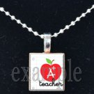 A+ School Teacher Scrabble Necklace Pendant Charm or Key-chain Great Gift
