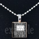 COMPOSITION BOOK School Teacher Scrabble Necklace Pendant Charm or Key-chain Great Gift