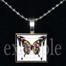 AUTISM Awareness Puzzle Butterfly Ribbon Scrabble Tile Pendant Necklace Charm OR Key-chain