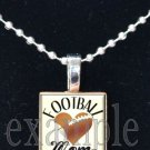 FOOTBALL MOM Scrabble Tile Necklace Charm or Keychain
