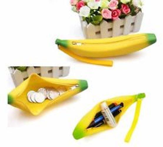 Silicone Banana Women Coin Bag Pencil Case Box Makeup Free Shipping World wide