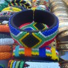 African beaded cuff bangle