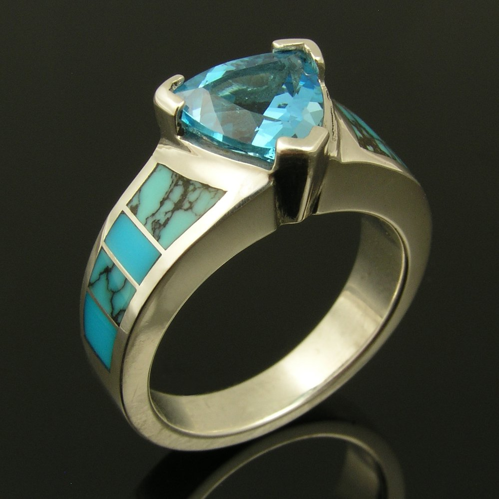 Turquoise Engagement Ring or Wedding Ring