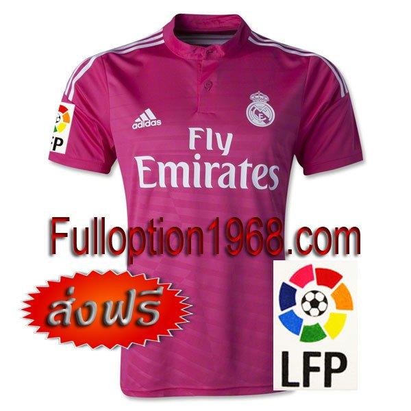 NEW 14-15 Real Madrid Away Big LFP Patch Soccer Football Shirt Jersey