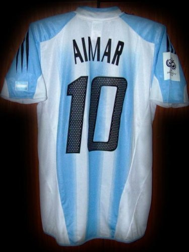 2331df172 04-05 Argentina Home Aimar 10 Fifa World Cup Qualifiers 2006 Patch ...
