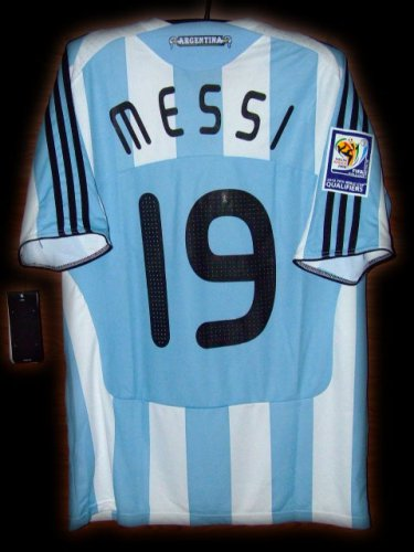 2009 Argentina Home Messi 19 Fifa World Cup Qualifiers 2010 Patch ... 30d733a91