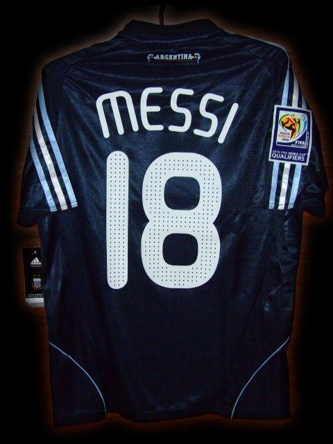 2008 Argentina Away Messi 18 Fifa World Cup Qualifiers 2010 Patch Soccer Football Shirt Jersey # S