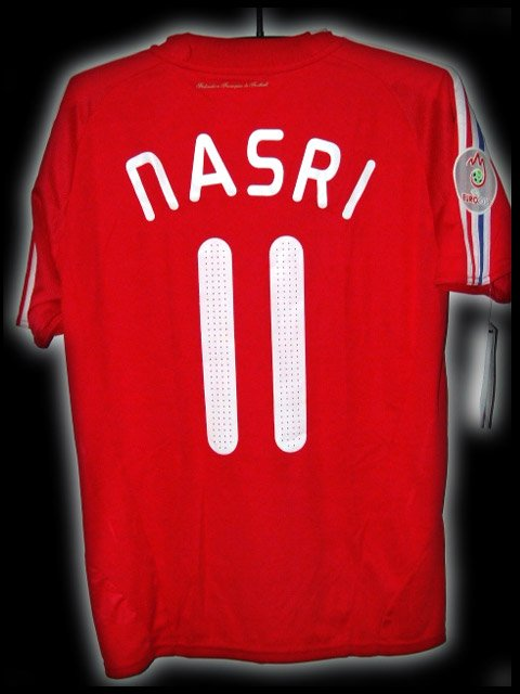 2008 France Away Nasri 11 Euro 08 Respect Patch Soccer Football Shirt Jersey # M
