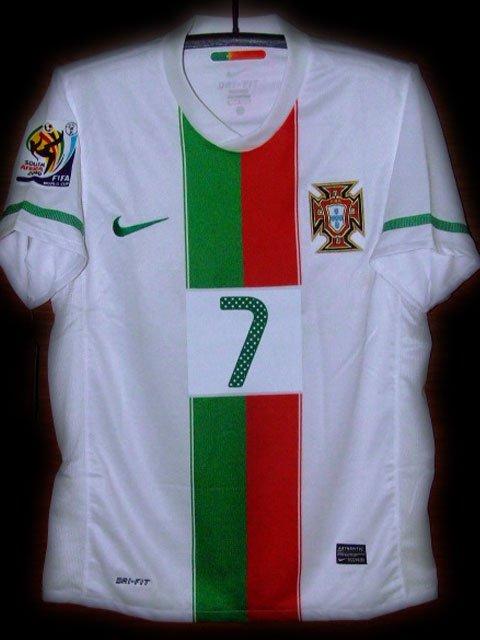 2010 Portugal Away Ronaldo 7 Fifa World Cup Final 2010 Patch Soccer Football Shirt Jersey # M