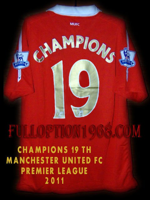2011 Manchester United Champions 19th Special Edition Soccer Jersey # XL