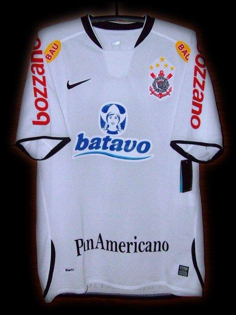 2009 Corinthians Home Ronaldo 9 Full Options Patch Soccer Football Shirt Jersey # XL
