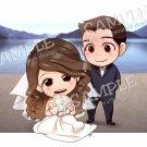 Print (wedding couple beach)