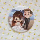 Round hand mirror (Wedding Couple Beach)