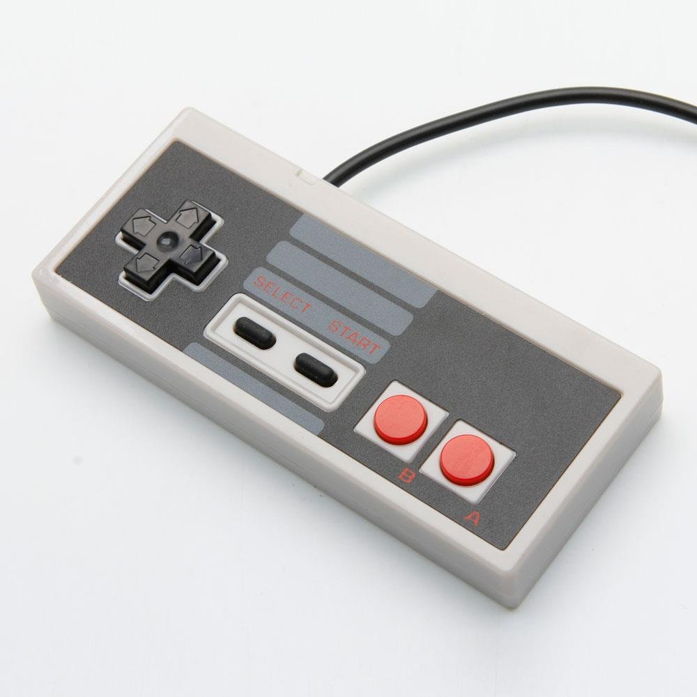 Classic nostalgia USB Wired NES Controller for PC Black & Gray