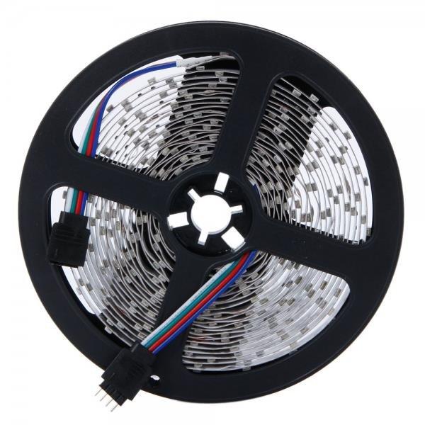 300-LED SMD3528 24W RGB IR44 Light Strip Set with IR Remote Controller White