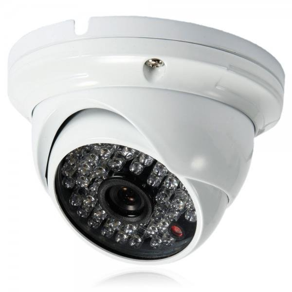"1/4"" CMOS 48LED 1000TVL NTSC 3.6mm Metal Round Plate Surveillance Dome Camera"