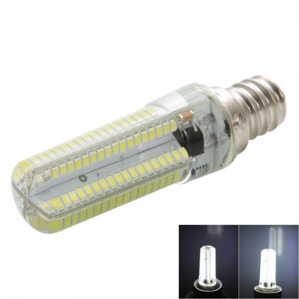 E12 7W 152-LED 3014 SMD 6000-6500K White Light Adjustable Silica Gel Corn Light