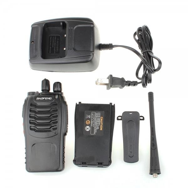 BaoFeng BF-888S 5W 400-470MHz Handheld Walkie Talkie Interphone Black