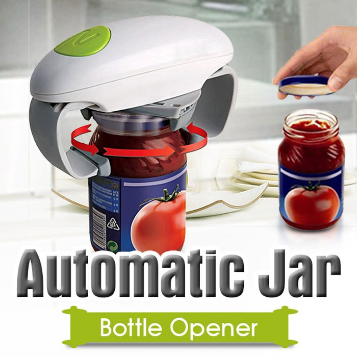 Automatic Electric Can Opener One Touch Jar Opener Kitchen Tool Random Color