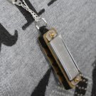 New Cute Swan Mini Harmonica 4 Hole 8 Tone Necklace Silver