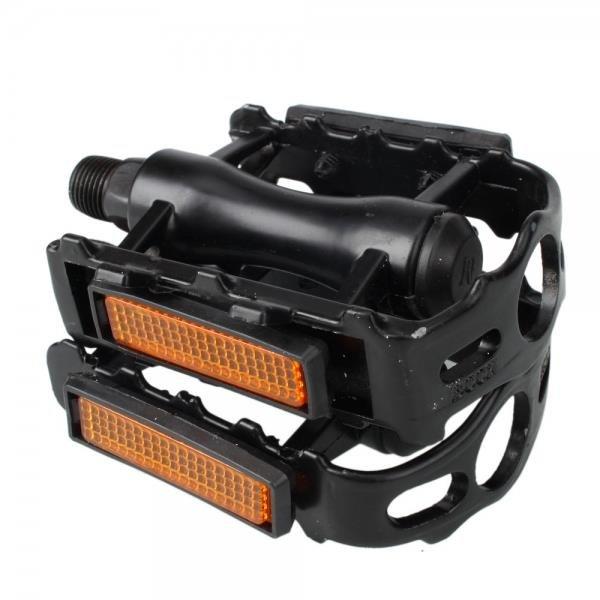 2 Pcs Aluminium Alloy Bicyle Pedals Footrest Black
