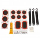 Bike Bicycle Flat Tire Repair Kit Tool Set Kit Patch Rubber Portable Fetal