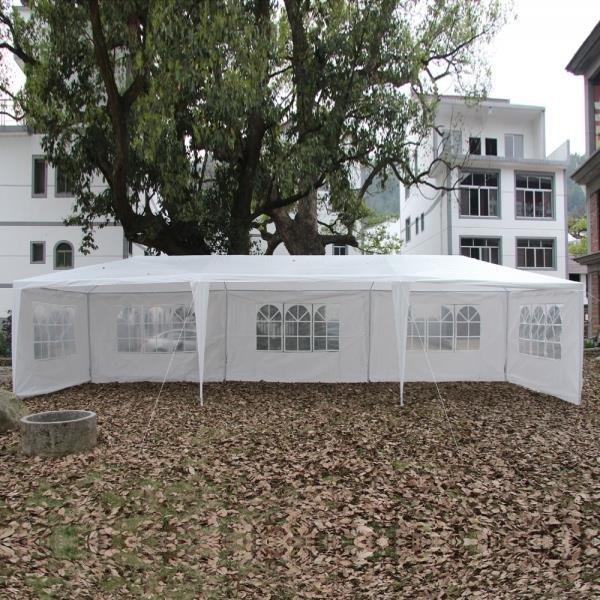 10' x 30' Outdoor Canopy Party Wedding Tent Heavy Duty Gazebo Pavilion White