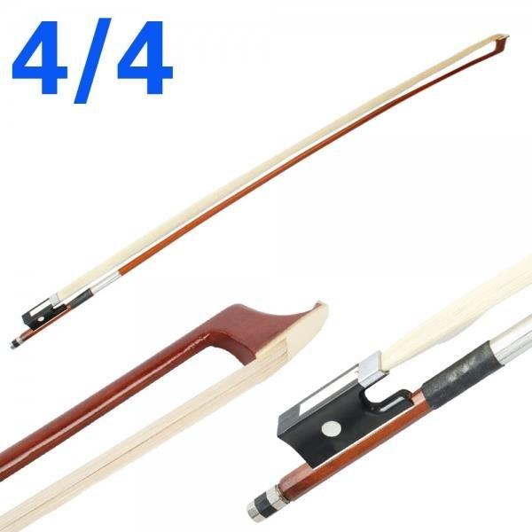 New 4/4 Arbor Horsehair Violin Bow Black Handle
