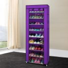 Portable 10 Layer 9 Grid Shoe Rack Shelf Storage Closet Organizer Cabinet