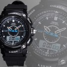 OHSEN Unisex Waterproof Digital LCD Alarm Military Sport Quartz Wrist Watch