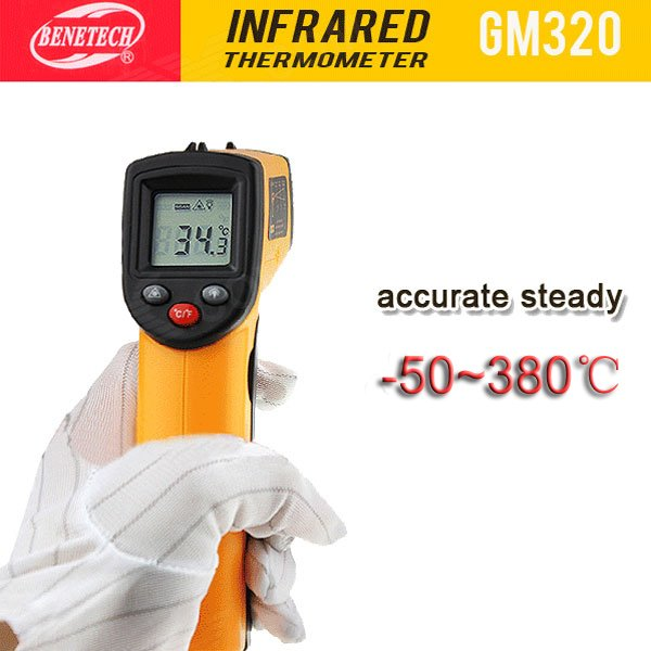 """BENETECH GM320 1.2"""" LCD Infrared Temperature Tester Thermometer -50? - 380?"""