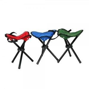 Outdoor Camping Fishing Picnic Portable Folding Chair of 3 Legs Seat Random
