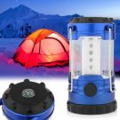 12 LED Bivouac Camping Hiking Fishing Tent Lantern Light Lamp With Compass Blue