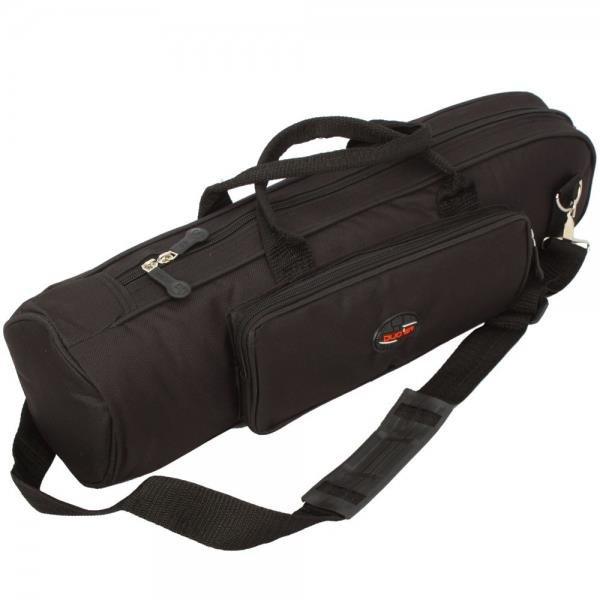 High-grade Nylon Trumpet Soft Case Bodycross Portable Dual Purpose Gig Bag Black