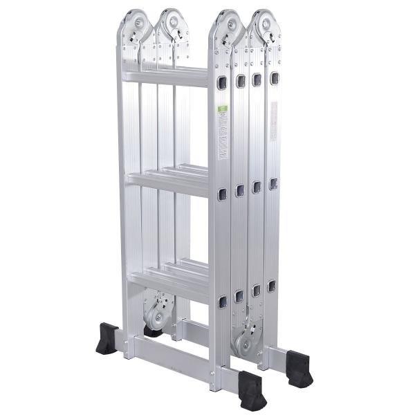 Scaffold Ladder Heavy Duty Giant Aluminum 12.5 ft Multi Purpose Fold Step Extend