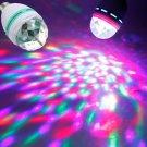 E27 3W Colorful Rotating RGB LED Bulb Stage Light White