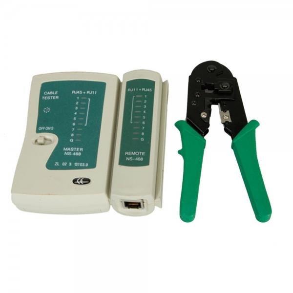 Network Lan Cable Tester RJ45 RJ11 RJ12 Cat5 + Crimper