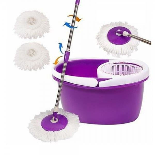 Rotation Mop Bucket Set Cleaning 360 Rotation Easy Wring Reusable Mop Head
