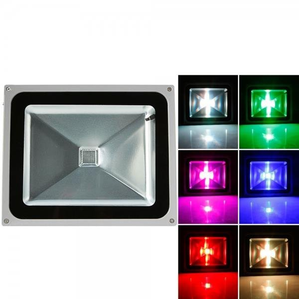 50W RGB Aluminium Alloy LED Flood Light with IP65 Waterproof & Remote Control