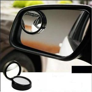 3R-012 50mm Glass and Plastic Car Blind Spot Mirror Black Border