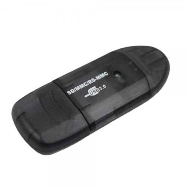 USB 2.0 SDHC SD MMC RS-MMC Memory Card Reader Grey