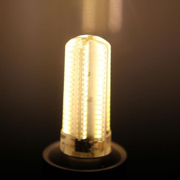 E12 7W 152-LED 3014 SMD 3000-3500K Warm White Light Adjustable Corn Light 110V