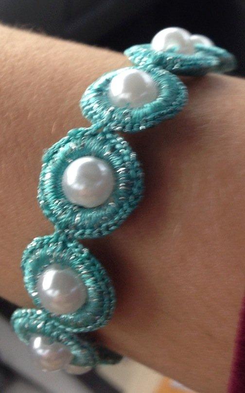 Light Teal Handmade Bracelet
