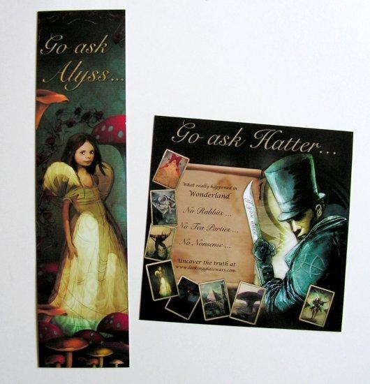 Comic Con 2010 Hatter M Promo Sticker + Bookmark
