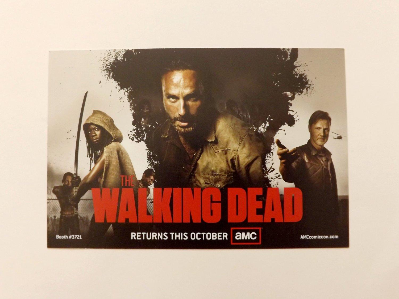 AMC -WALKING DEAD Promo Card - 2012 SDCC Comic Con