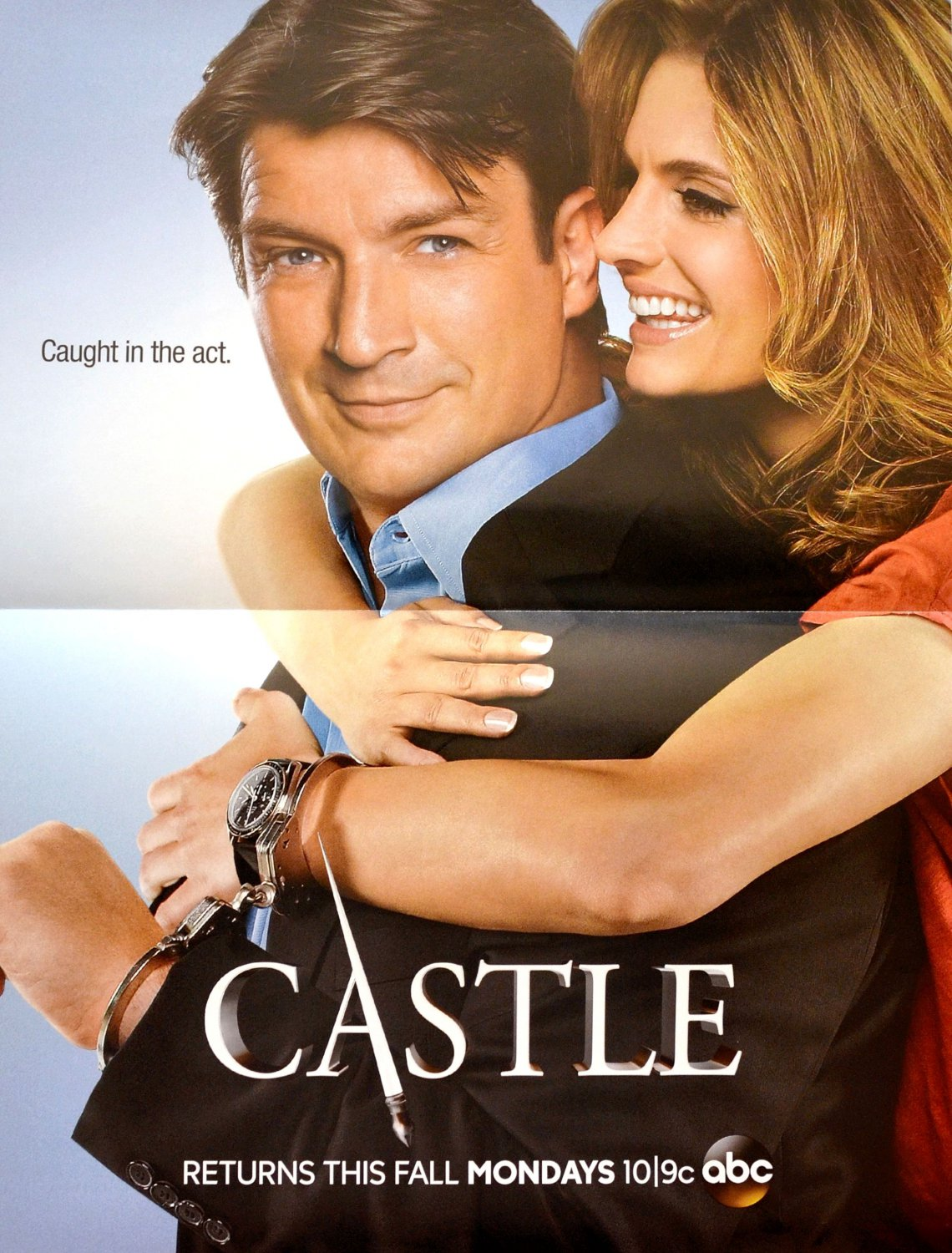 CASTLE 10x13 Exclusive DS Promo Poster - SDCC 2013 Nathan Fillion & Stana Katic Comic Con Swag
