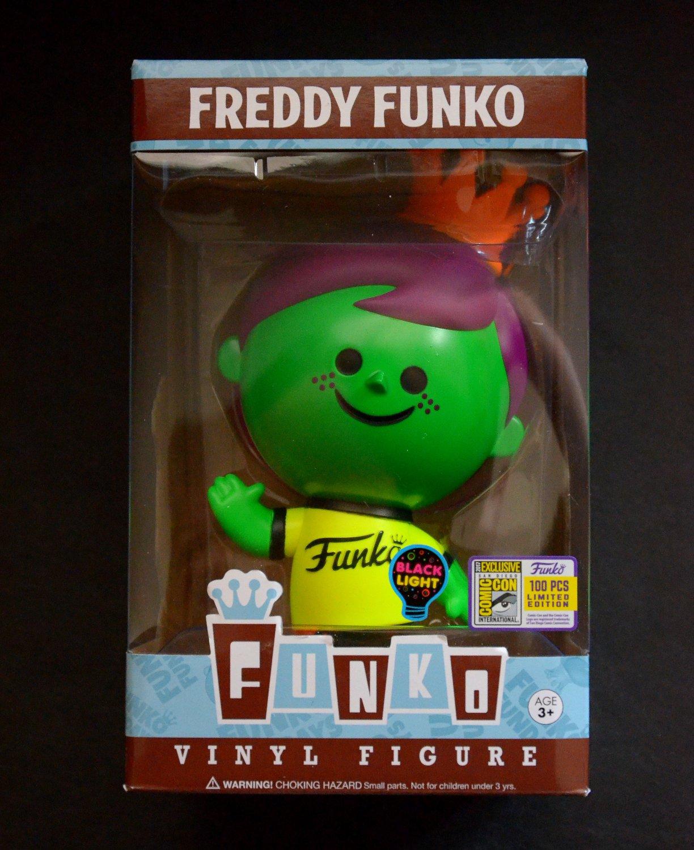 Funko Fundays SDCC 2017 Freddy Funko Retro Green Neon Black Light LE 1/100