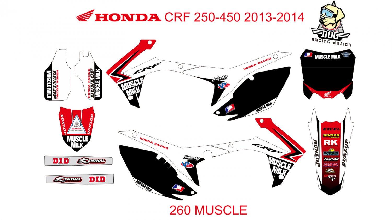 HONDA CRF 250-450 2013-2014 GRAPHIC DECAL KIT CODE.260